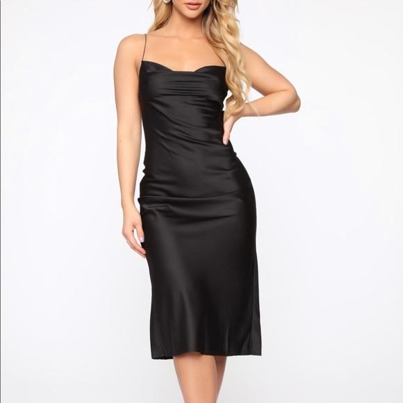 Fashion Nova Dresses & Skirts - Fashion Nova Turn To You Satin Midi Dress